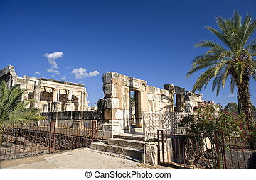 synagogue Capernaum - the ancient synagogue at Capernaum...