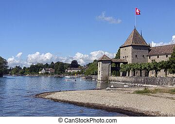 Rolle Castle - Lake Geneva - Switzerland - Rolle Castle on...