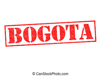 BOGOTA Rubber Stamp over a white background