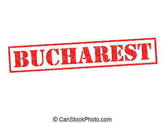 BUCHAREST Rubber Stamp over a white background
