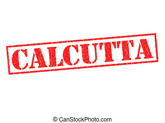 CALCUTTA Rubber Stamp over a white background