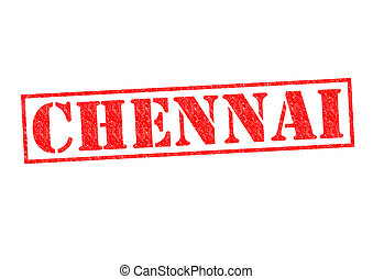 CHENNAI Rubber Stamp over a white background