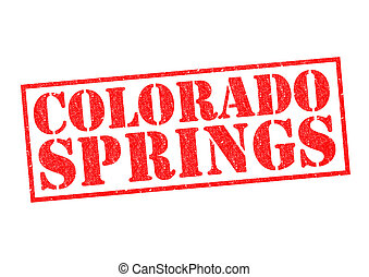 COLORADO SPRINGS Rubber Stamp over a white background.