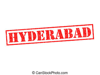 HYDERABAD Rubber Stamp over a white background.