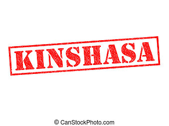 KINSHASA Rubber Stamp over a white background