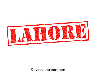 LAHORE Rubber Stamp over a white background.