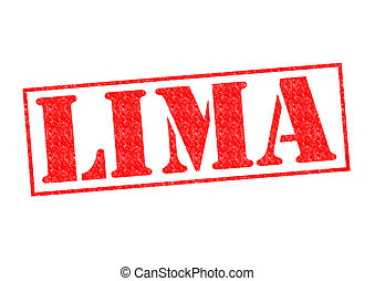 LIMA Rubber Stamp over a white background.