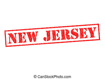 NEW JERSEY Rubber Stamp over a white background.