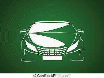 Auto in green - Automobile logo