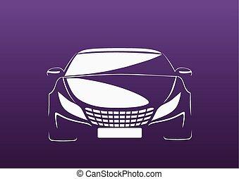Auto in purple - Automobile logo