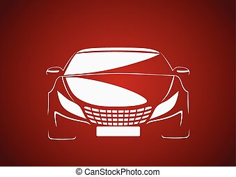 Auto in red - Automobile logo