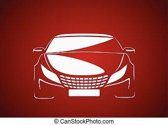 Auto in red - Automobile logo