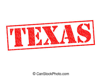 TEXAS Rubber Stamp over a white background.