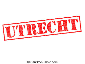 UTRECHT Rubber Stamp over a white background