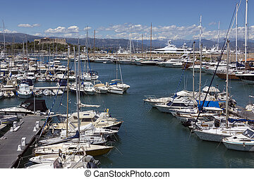 Antibes Harbor - South of France - The harbour in the resort...