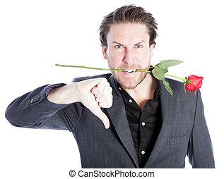 Attractive caucasian man shot in studio