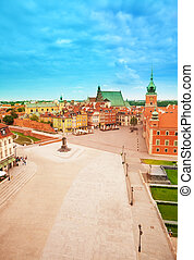 Plac, Zamkowy from top view - Plac, Zamkowy (Castle square)...