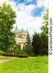 Garden in Bojnice castle