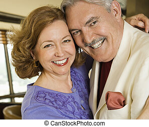 Mature couple portrait - Portrait of mature Caucasian couple...