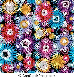 Seamless floral spring vivid pattern - Seamless vivid floral...