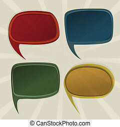 Speech bubbles retro