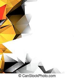 抽象的, 秋, 三角, 背景