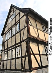 a half-timbered house in Quedlinburg