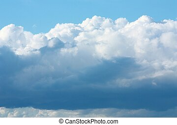 White Clouds - White clouds in the sky.