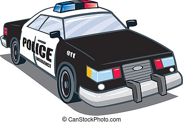Police Car - Police law man automobile illustration