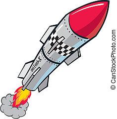 Rocket Missile - Rocket warhead projectile missile