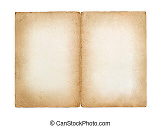 old vintage sheet of paper isolated on white background