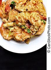 Shrimp curry.