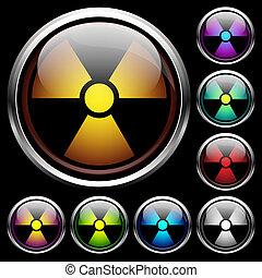 Set icons of radiation
