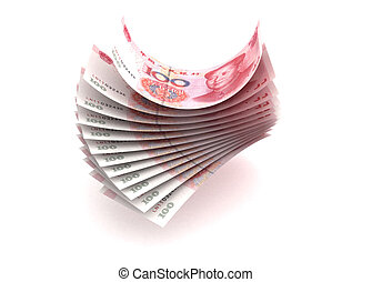 Yuan Currency (isolated with clipping path)