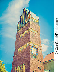 Retro look Wedding Tower in Darmstadt - Vintage looking...