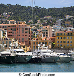 Port of Nice - Cote dAzur - South of France - Luxury yachts...