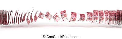 Yuan Transfer (isolated with clipping path)