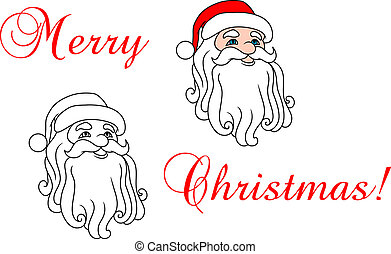 Santa Claus in red hat