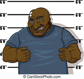 Afro-American prisoner - Afro-american prisoner in cartoon...