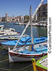 Port of Sete - South of France - The Canal Royal in the...