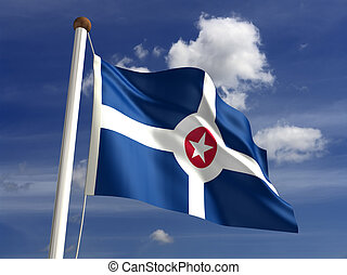 Indianapolis City Flag - Indianapolis City flag isolated...