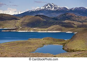Torres del Paine National Park - Chile - Deep blue glacial...