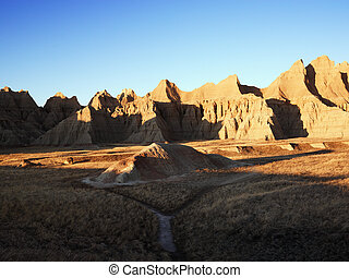 Badlands, South Dakota. - Landscape in Badlands National...