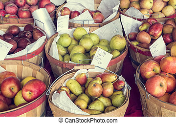 Apples and Pears for Sale - Apples and pears for sale at...