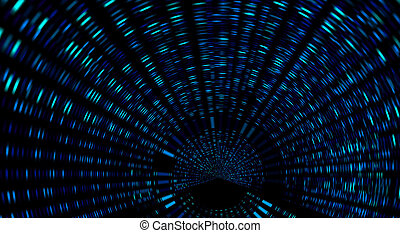Tunnel - Abstract tunnel, speed zoom lights
