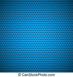 Blue Seamless Circle Perforated Grill Texture - Blue (cyan)...