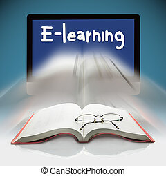 Books and computers, The concept E-learning