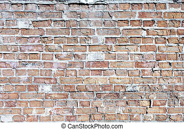 Weathered Olde Red Brick Wall Background - Just Weathered...