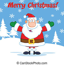 Greeting With Santa Claus Character