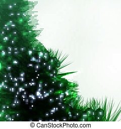 Abstract Christmas tree, creative vector background eps10